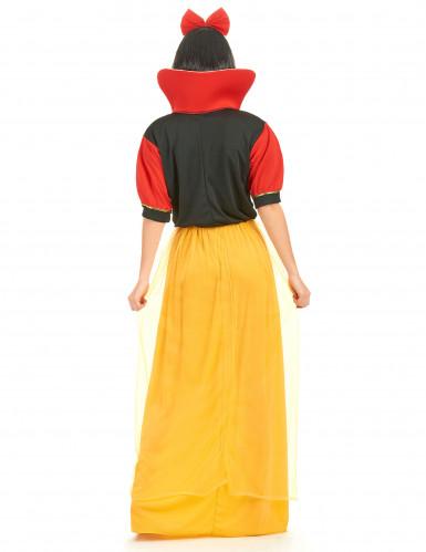 Costume principessa delle fiabe donna giallo e nero-2
