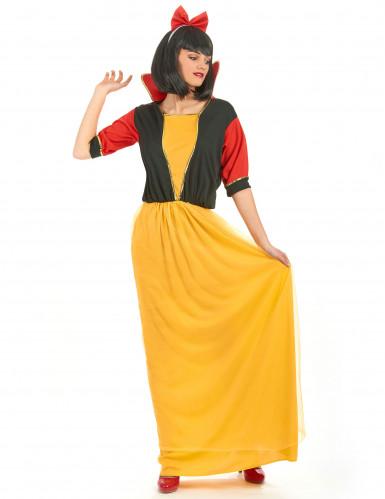 Costume principessa delle fiabe donna giallo e nero-1