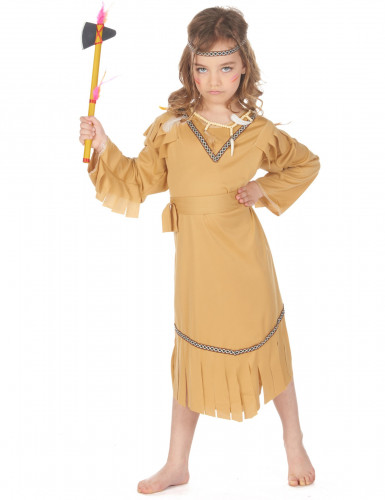 Costume beige da indiana bambina