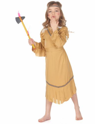 Costume beige da indiana bambina-1