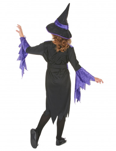 Costume streghetta viola bambina Halloween-2