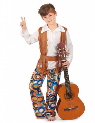 Costume hippie marrone bambino