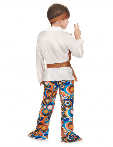 Costume hippie marrone bambino-2