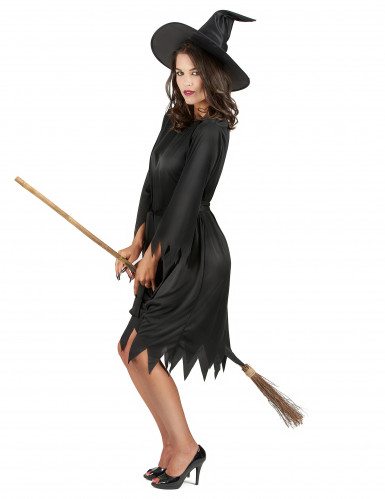 Costume da strega nera donna Halloween-1