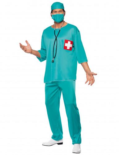 Costume chirurgo con croce rossa uomo