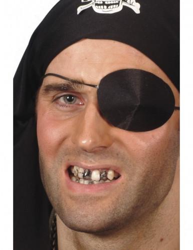 Trucco nero per dente adulto Halloween