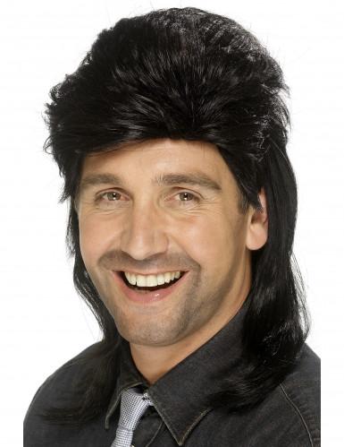 Parrucca nera triglia uomo