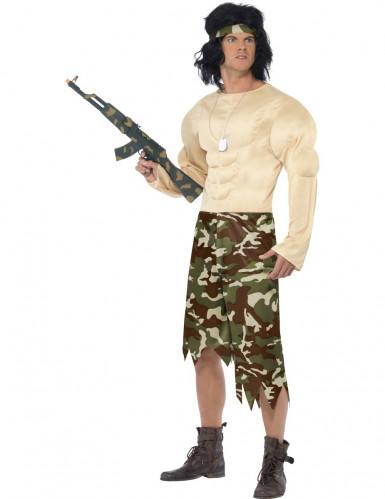 Costume da militare combattente per uomo