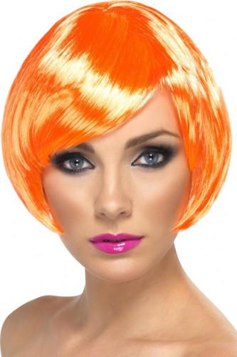Parrucca corta glamour arancio donna