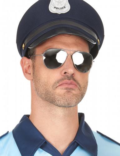 Occhiali aviatore montatura argento adulto-2