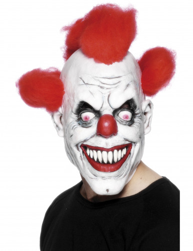 Maschera terrificante da clown adulto Halloween