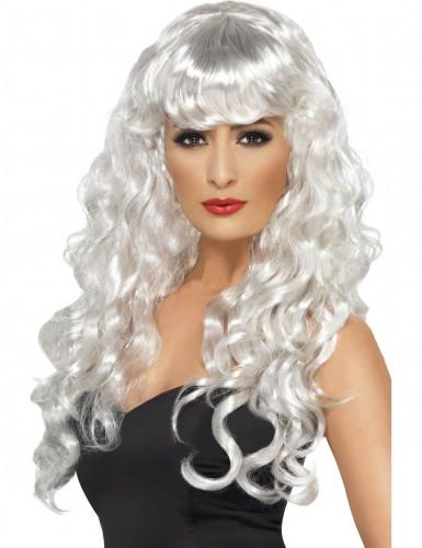 Parrucca bianca da sirena donna