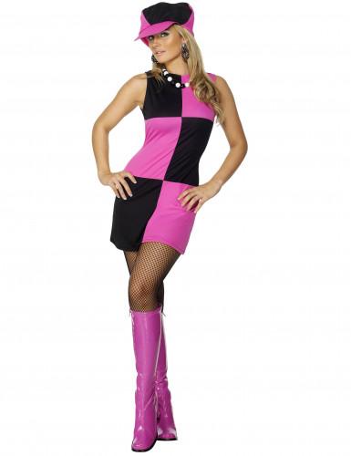 Costume rosa disco donna