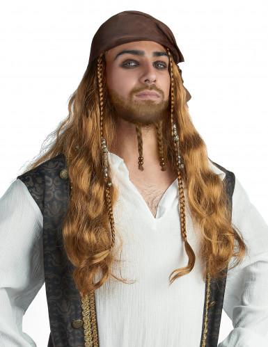 Parrucca da Jack il pirata uomo