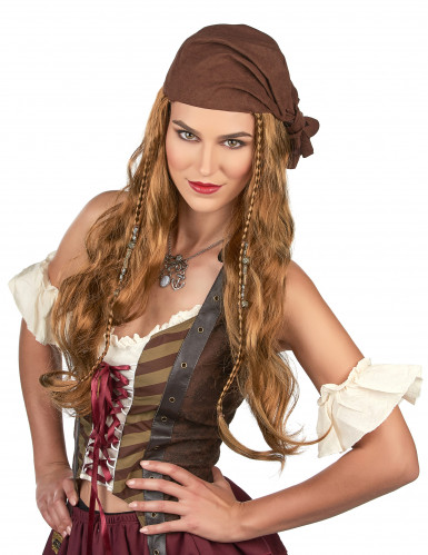 Parrucca da Jack il pirata uomo-1