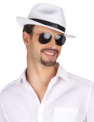 Cappello bianco e nero da gangster adulti-1
