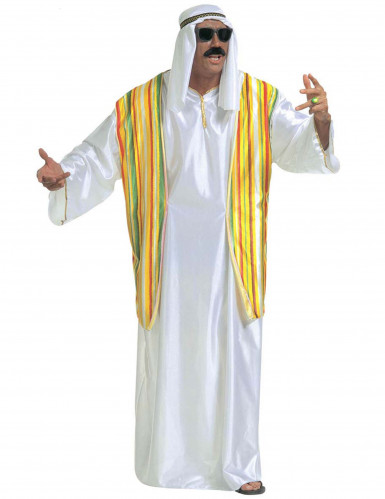 Costume da sceicco arabo con gilet per uomo