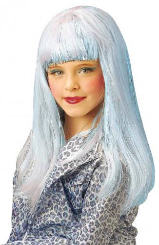Parrucca celeste bambina