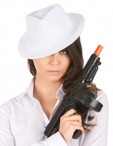 Cappello bianco da gangster adulti-1