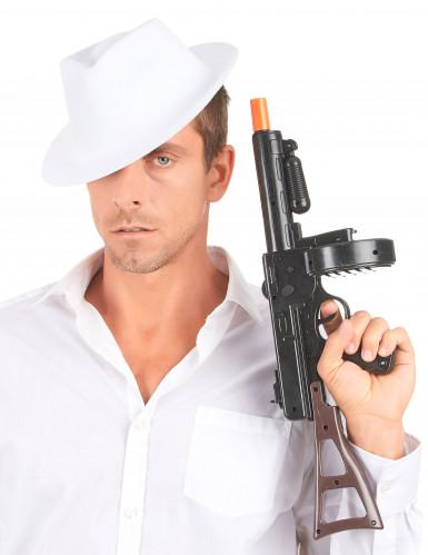 Cappello bianco da gangster adulti-2