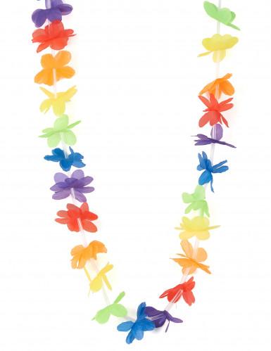 Collana hawaiana di benvenuto multicolore