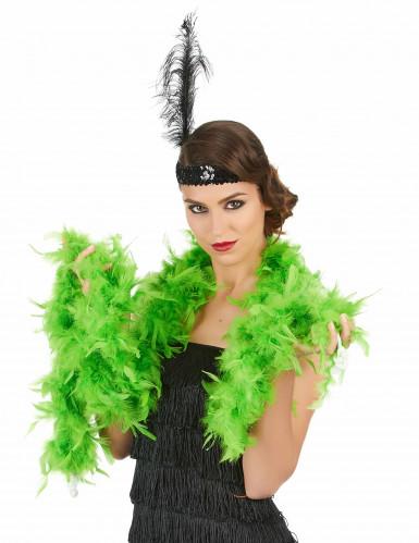 Boa verde di finte piume-1