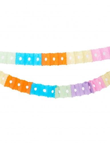 Ghirlanda di carta multicolor 6 metri