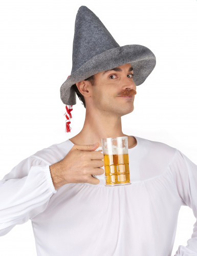 Cappello bavarese grigio per adulto-1
