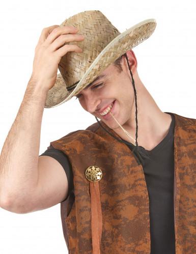 Cappello di paglia Dallas Bull adulto-1