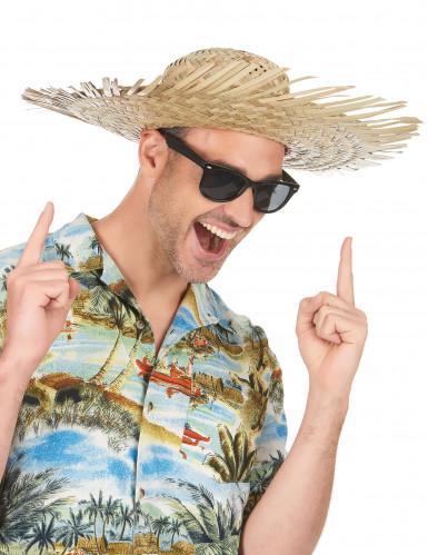 Cappello di paglia Hawaii adulto-1