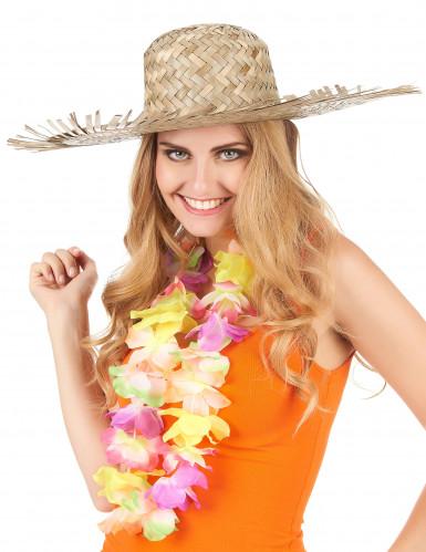 Cappello di paglia Hawaii adulto-2