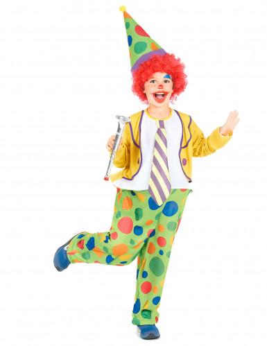 Costume da clown con cappello per bambino