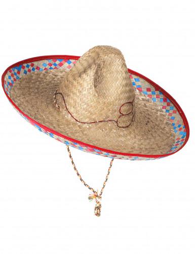 Cappello messicano in paglia adulto-2