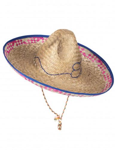 Cappello messicano in paglia adulto-4
