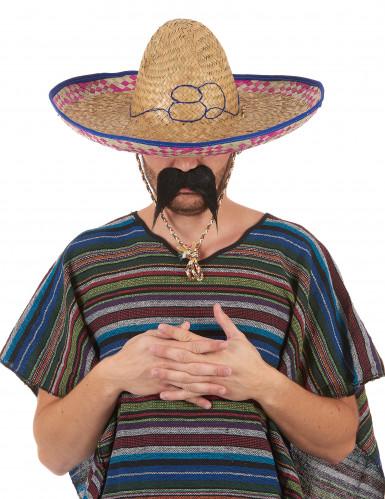 Cappello messicano in paglia adulto-5