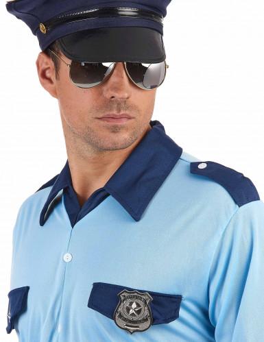 Distintivo da poliziotto in metallo per adulto-1