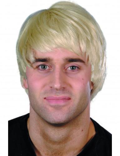 Parrucca corta moderna bionda uomo