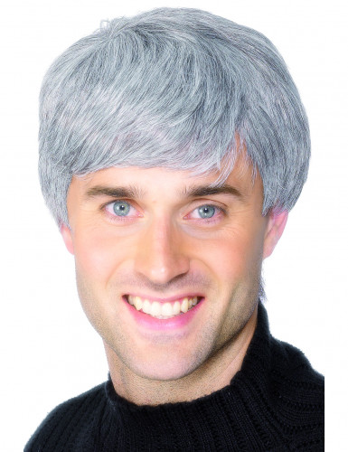 Parrucca moderna grigia uomo