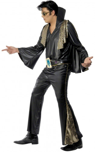 Costume in nero Elvis Presley™ uomo-2