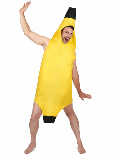 Costume a tunica da banana per adulto