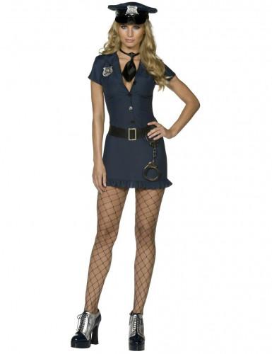 Costume poliziotta sexy donna con cravattino
