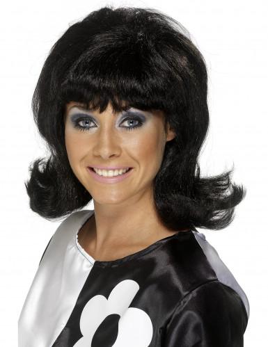 Parrucca bruna anni 60 donna