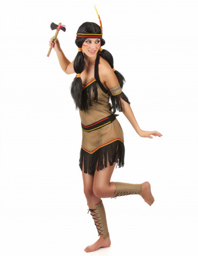Costume principessa indiana cacciatrice per donna-1