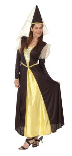 Costume principessa medievale donna con velo