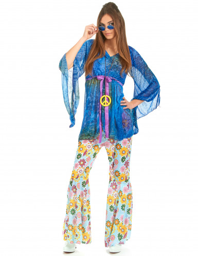Costume flower power hippy donna