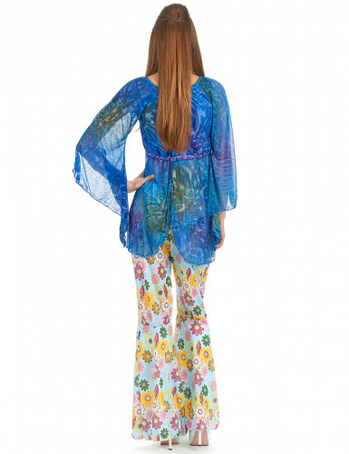 Costume flower power hippy donna-2