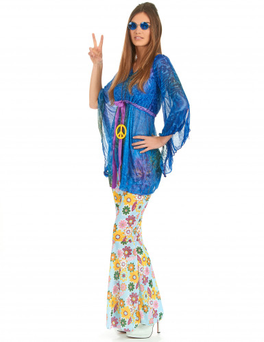 Costume flower power hippy donna-1