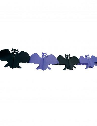 Ghirlanda di pipistrelli viola e neri - Halloween
