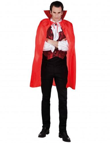 Mantello vampiro rosso uomo Halloween