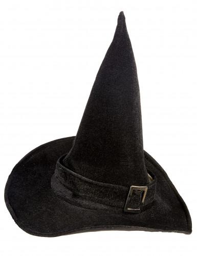 Cappello da strega in velluto donna Halloween-1